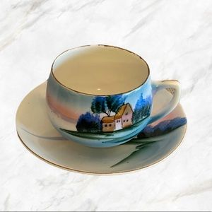 Vintage | Japanese Hand-Painted Tea Cup & Saucer